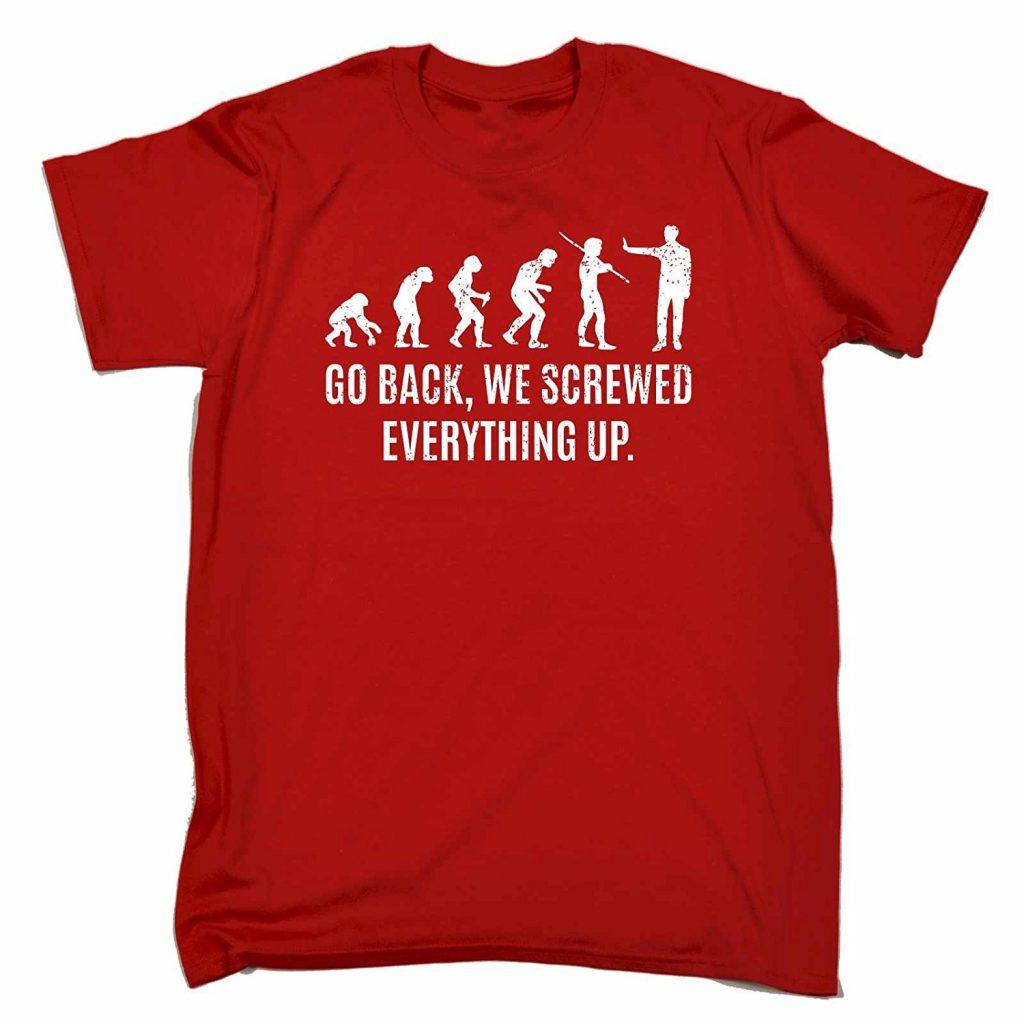 Sorry Charles Darwin Red T-Shirt