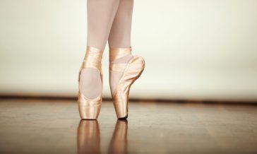 Ballet Feet Doing Pirouettes Feet