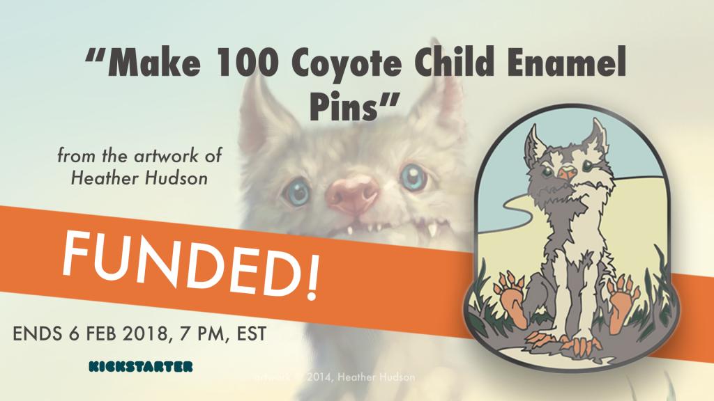 Coyote Child Enamel Pins
