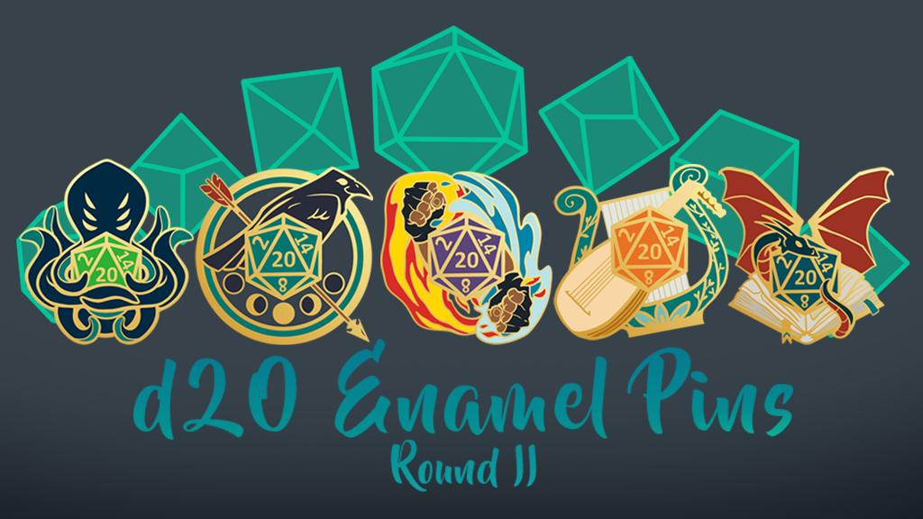 D20 Hard Enamel Pins -- Round II