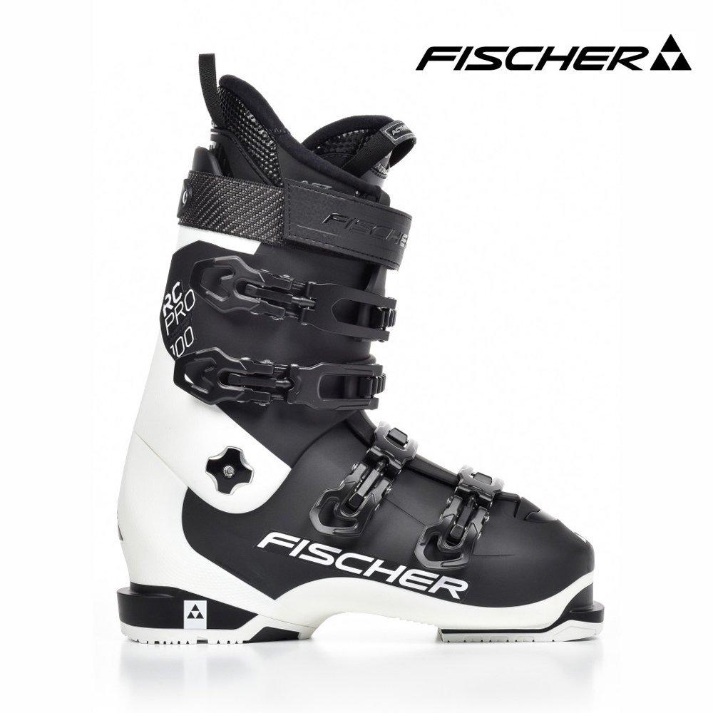 Fischer Men's RC Pro 100 Thermos Hape Black Ski Boots, Men, Fischer Herren Skischuhe RC PRO 100 Thermoshape black