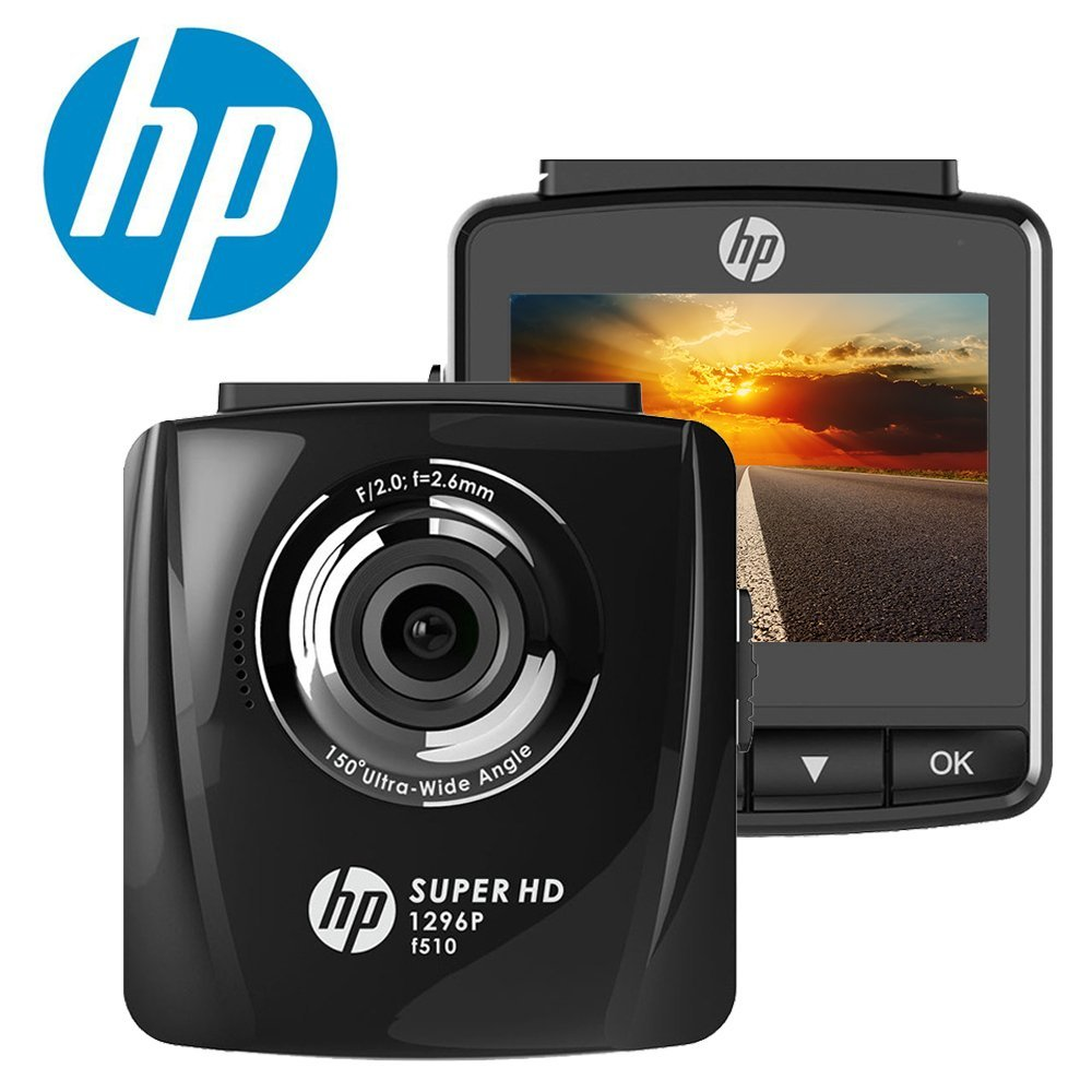 HP Super HD 1296p In Car Dash Cam Camera DVR Digital Driving Video Recorder High Definition 2304x1296 Pixels Resolution Increased by 44% Compared with 1080p