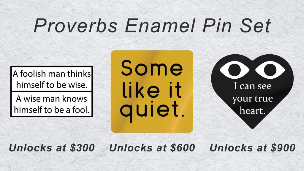 Proverbs Enamel Pin Set
