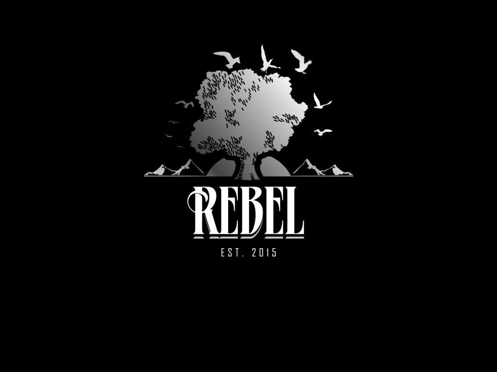 Rebel Logo Est 2015 On Black Background