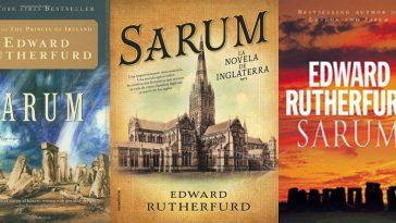 Sarum by Edward Rutherfurd La Novela De Inglarerra Front Covers