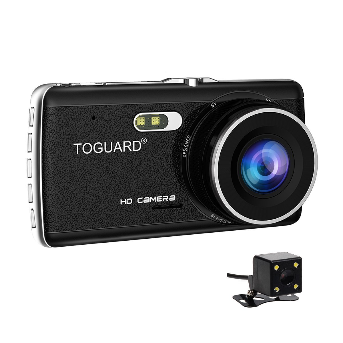TOGUARD Dual Lens Dash Cam front and rear recording ATST, Night Vision,4.0'' IPS Screen,HD 1080P Car Dash Camera, Rearview Backup Camera,170 Degree Wide Angle, WDR, Loop Recording, G-sensor, Parking monitor 1