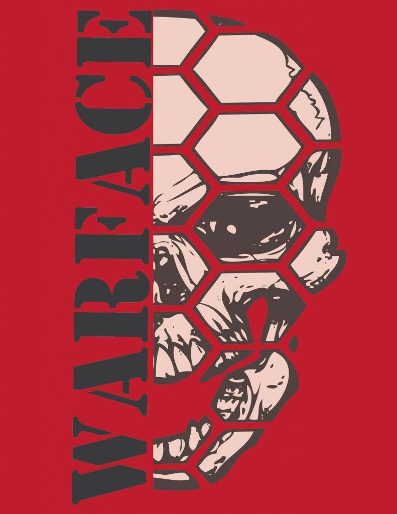 Warface Clothing Skull On Red Background