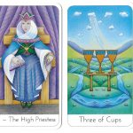 Tarot Cards King Of Pentacles II The High Priestess Three Of Cups XIII The Death