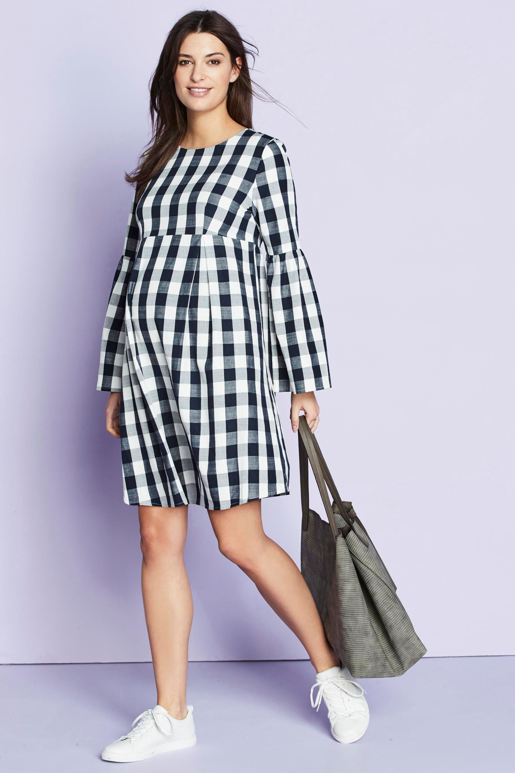 f016cb74c7d Black And White Gingham Maternity Dress - Dress Foto and Picture