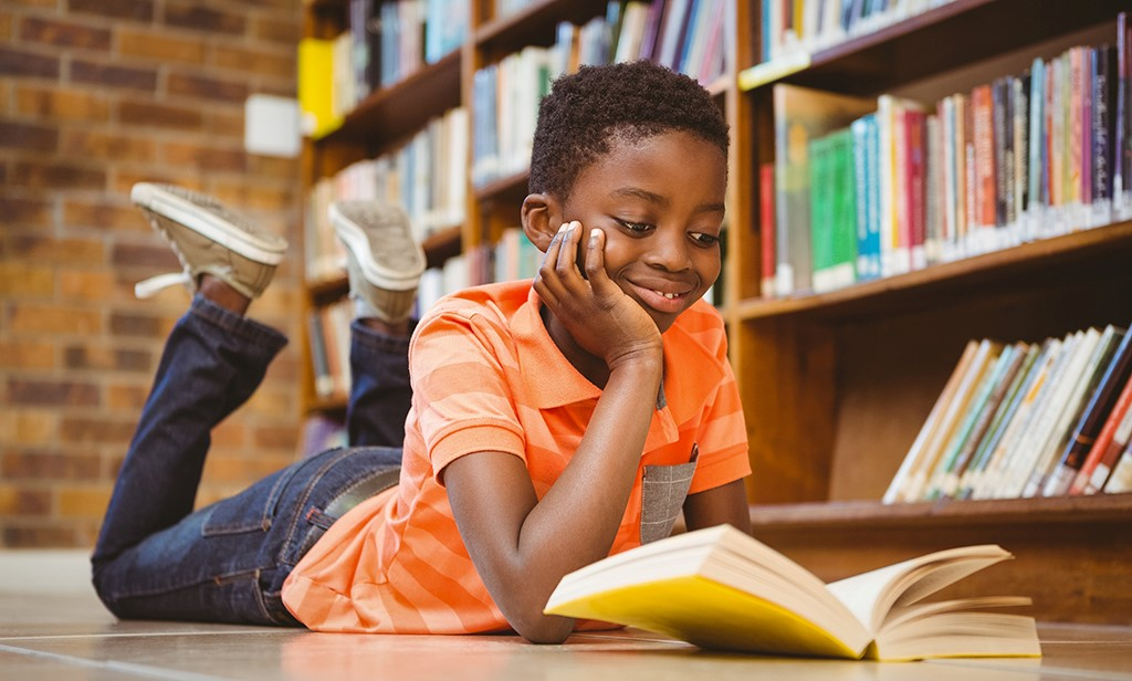Image result for A BLACK CHILD READING