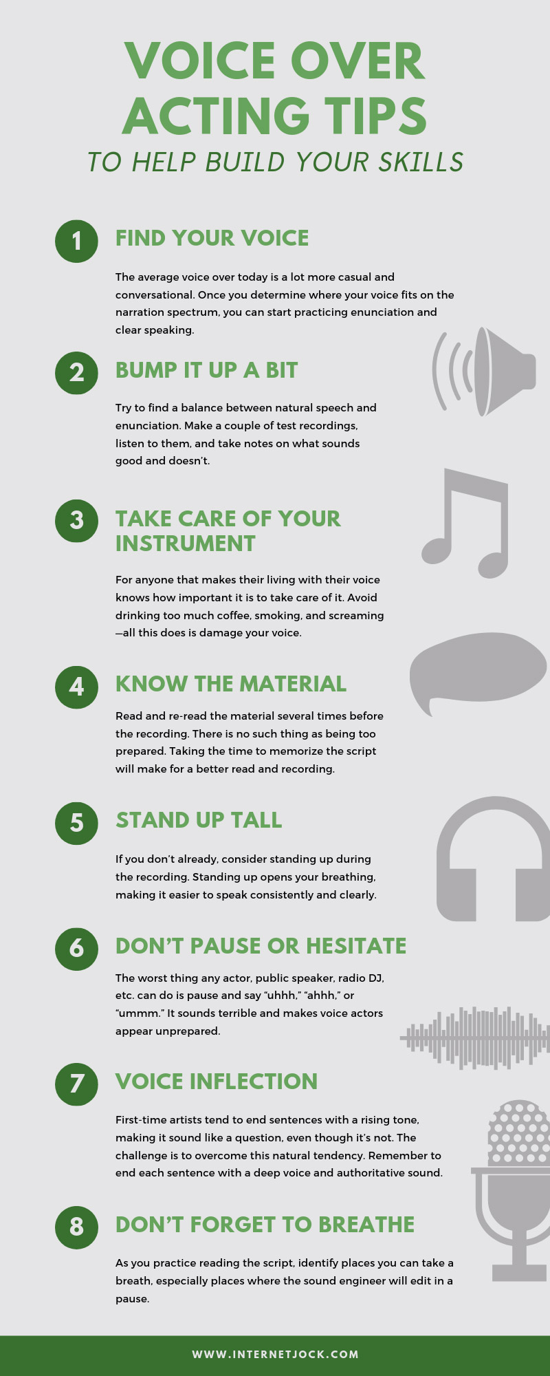 Voice Over Acting Tips to Help Build Your Skills